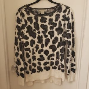 Sweaters - Fuzzy Leopard sweater